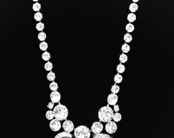 Magnificent Signed EISENBERG Swarovski Crystal Rhinestone Necklace