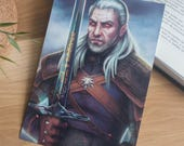 The Witcher art print, Witcher Geralt of Rivia art, The Witcher poster, Geralt of Rivia print, Witcher fan art, video game poster, geek art