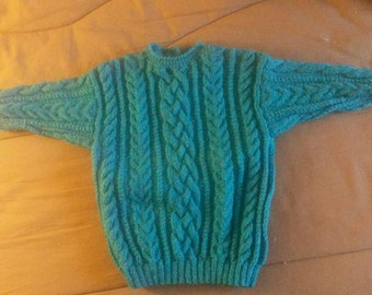 Pullover cable rather 18 months is handmade (can make in other sizes and/or color)