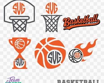 Basketball, Basketball Items Collection, Svg File, Printable Basketball, Cut File svg, Basketball Monogram, Cameo Cricut File, TEAM-46