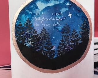 His Love Surpasses the Stars Above- Painting