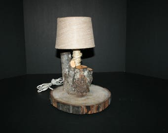 Maple and Walnut Desk Lamp