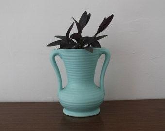 A Teal American Ceramic Vase