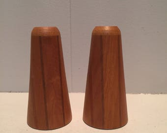 Vintage Wooden Salt and Pepper Shakers |  Mid Century Modern | Retro Wood Salt and Pepper Shakers