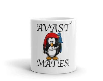 Avast Mateys Spartees distressed white Mug