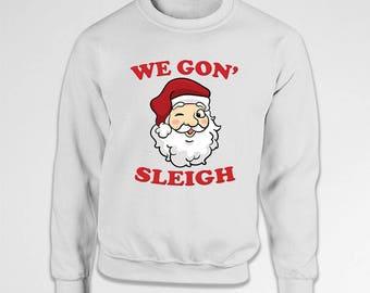 Funny Christmas Sweater Christmas Pullover Santa Claus Xmas Clothes Holiday Jumper Christmas Outfits Santa Sweatshirt X-Mas Hoodie TEP-547