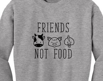Vegan Shirt, Friends not Food, Vegan clothing, Vegetarian shirt, eat plants, lettuce eat plants, gift for friend, best friend gift