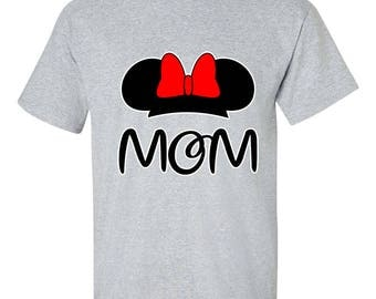 Minnie Mouse Mom Disney Shirts Couple T-Shirts Printed Men Size Unisex Tee Shirts Clothing for Men and Women