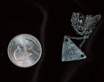 Damascus Triangle Pendant