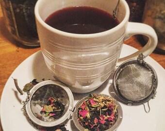 Round Looseleaf Tea Strainer