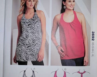 K3692, Kwik Sew, Tank Top Pattern, Out of Print, Sizes XS-XL, Sewing Pattern