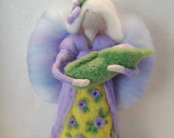 Felted doll Angel with baby