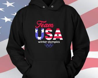 Olympics hoodie Winter Olympics sweatshirt Team USA Sweatshirt hoodie, Pyeongchang, Korea Olympics