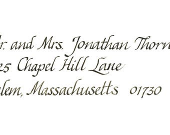Wedding Envelope Calligraphy - Italic Font (Sample)