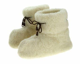 Natural Sheep  Wool Home Slippers  Warm Home Shoes Wool Fur Shoes Fur slippers Beige White Socks boots Winter home shoes Naturals boots