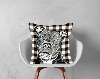 Pitbull Dog,Pit Bull, Decorative Pillow, Dog Pillowcase, Personalized Pet,Gift Love this Holiday Season or Just Brag About Your Pet.