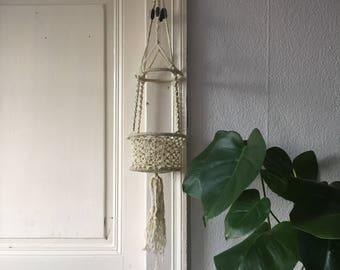 Vintage macrame hanger