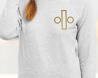 Ed SHeeran Divide Logo Gold Glitter Sweat LAdyStyle Or Mens Unisex
