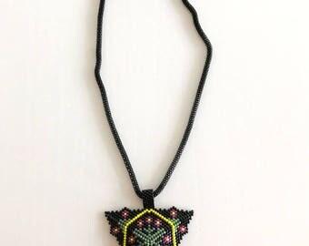 Hand Made Miyuki Titanium Pendant With  Chain