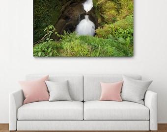 Nepal Waterfall Canvas Wrap // Large Canvas Print, Nature Photography, Asia Decor Wall Art, Fine Art Photo Print, Devi's Falls Home Decor