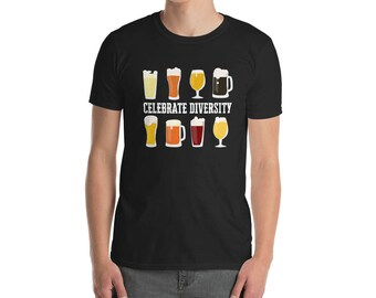 Celebrate diversity T-Shirt, St Patrick's Day, St Patty's Day, craft beer, home brewery, drinking, beer lover shirt Unisex short-sleeve