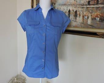Size Small women's blue blouse