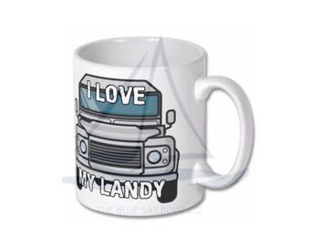 Love My Landy Mug, Novelty, Land Rover, Defender, Truck, Defender Gift, Cars, Defender, Land Rover 90, Land Rover 110, Land Rover 130