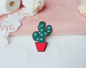 cactus patch/iron on patch/sew on patch/plant patch/patch for jacket backpack/embroidered patch