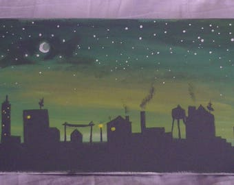 cityscape - silhouette art