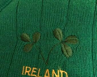 Vintage Green Ireland Sweater Vest/ Made in Ireland/ MoD/ Ska/ Oi