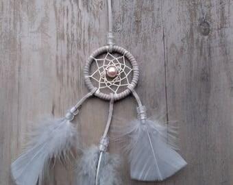 Handmade mini dream catcher Gray
