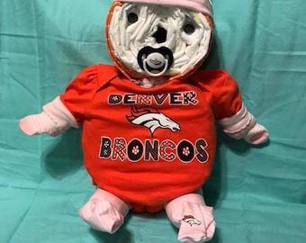 Girl Broncos Teddy Bear