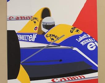"Franco Costa Signed Serigraph ""Formula 1"""