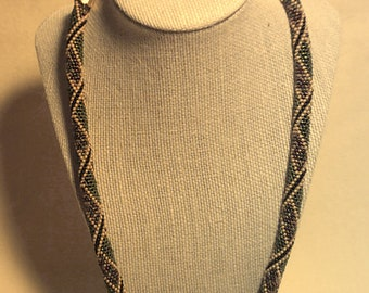 Peyote With Twist-not Crochet rope necklace.