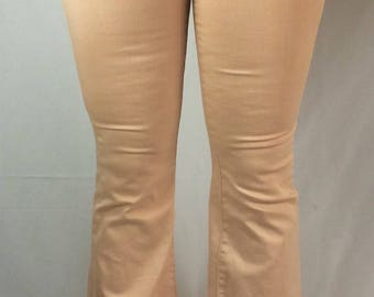 """James Jeans Shayebel Peach Bell Bottoms Mid Waisted Jeans 