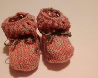 newborn - 1 month baby booties