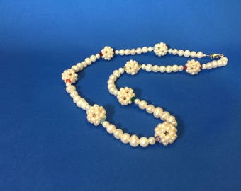 Pearls with swarovski crystals