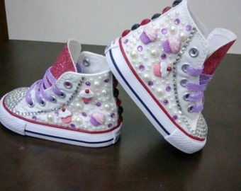 Custom pearl and bling converse