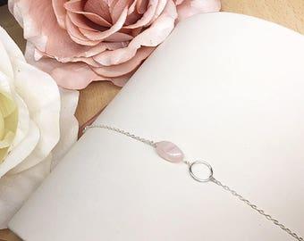 Silver bracelet / Quartz