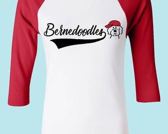 Custom Doodle Tshirt, Doodle Mom Shirt Goldendoodle Bernedoodle Schnoodle Whoodle Aussiedoodle, Groodle, Cockapoo, Doodle Raglan Tee