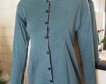 80's blouse, blue blouse, vintage blouse, retro blouse, 80's clothing, blouse women, 80's fashion, retro clothing, classic blouse 80's shirt