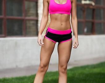 Set Basic Pink, shorts top, yoga set, Workout set, women's clothing, Woman outfit, Workout shorts, Pink top, Gym Set, yoga shorts, shorts