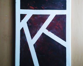 One of a Kind Art // Original painting // An Argument // Acrylic on Canvas