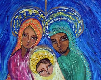 A Baby Changes Everything-Nativity-Nacimiento-Canvas art acrylic, original