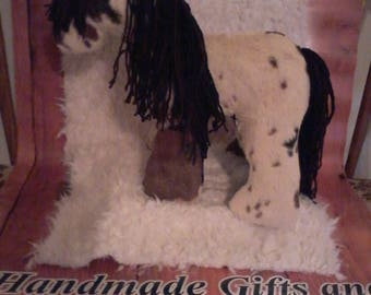 Cuddly stuffed paint horse