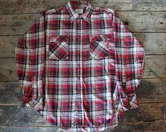 Vintage 80's Flannel Shirt | Size Medium