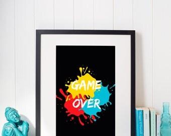 Game Over Printable Art