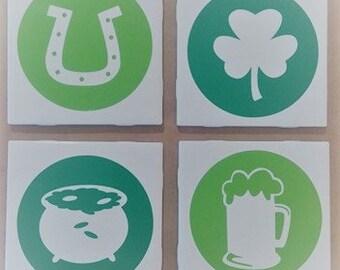 St Patrick's Day Coasters