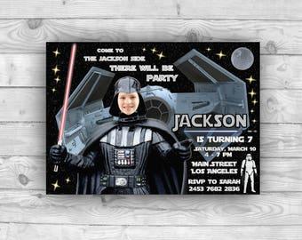 Star Wars Birthday Invitation, Star Wars Party Invite, Vader Invitation Card, Vader Invite, Skywalker Anakin Invitation, Darth Vader Invite