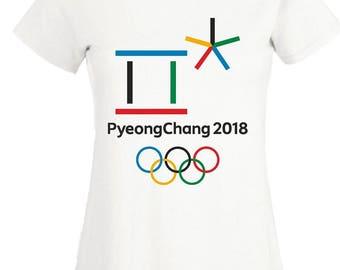 Winter Olympics 2018 T-Shirt PyeongChang 2018 Olympic Sports Gift Women Ladies Top